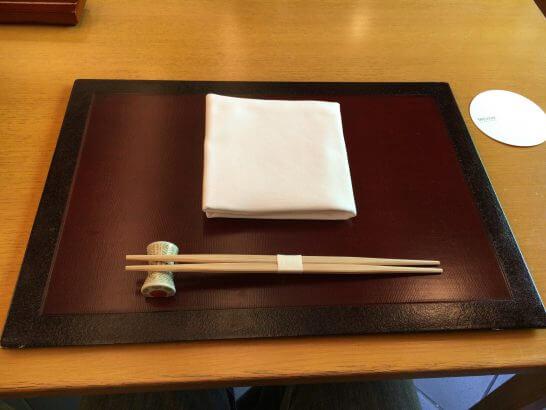 日本料理「はなの」のテーブル