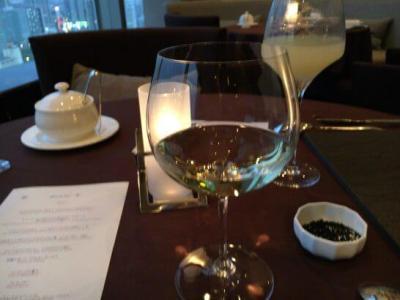 横浜ベイシェラトン ホテル&タワーズのベイ・ビューの白ワイン