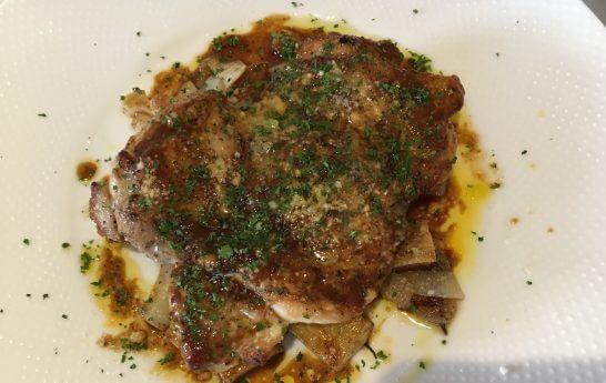 イタリアンのランチ (鳥の胸肉)