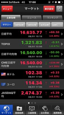 SBI証券の株式アプリ