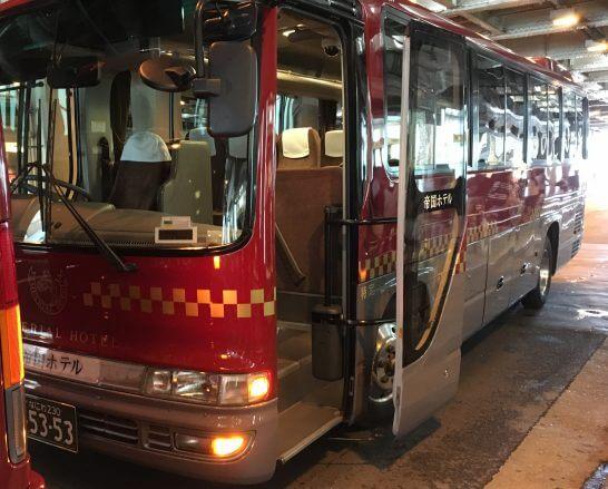 帝国ホテル大阪行きのシャトルバス