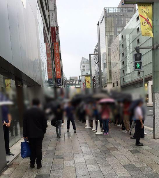 アップルストア銀座のiPhone発売日の行列
