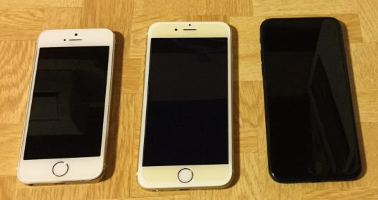 iPhone 5sと6sとiPhone7