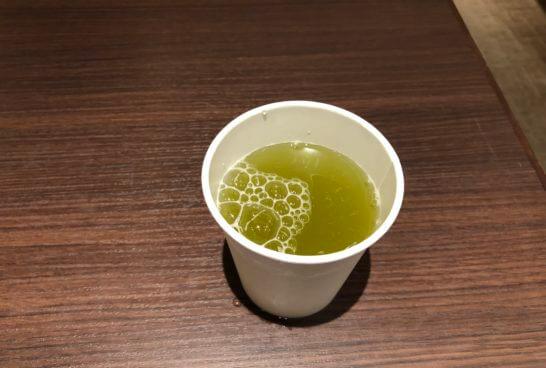 ダイナースの京都ホテル ウエルカムラウンジの緑茶