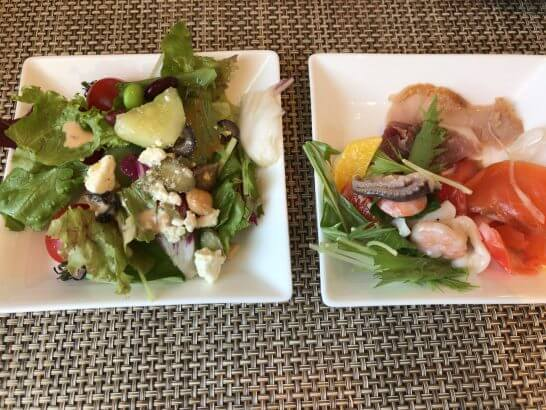 セントレジスホテル大阪の朝食のサラダ