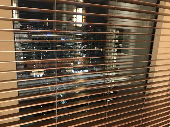 セントレジスホテル大阪のバスタブの夜景