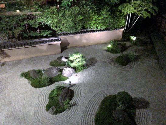 ハイアットリージェンシー京都「THE GRILL」の窓からの景色