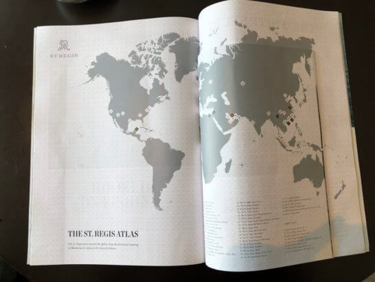 セントレジスホテルがある地域が記された地図