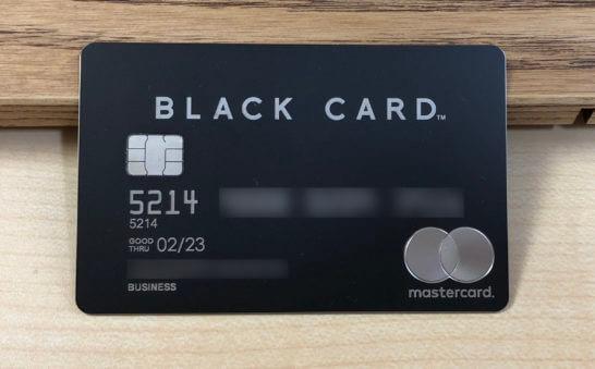 ラグジュアリーカードのビジネスカード(ブラック)