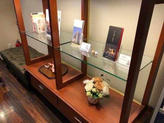 ダイナースの京都ホテル ウエルカムラウンジのインテリア