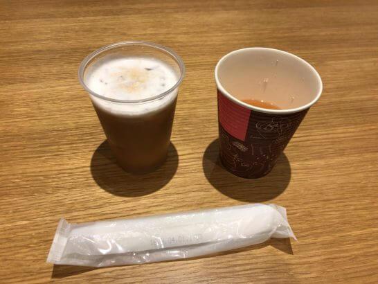 JCBラウンジ京都のカプチーノ・オニオンスープ