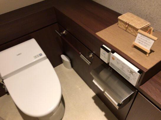 京都ホテル ウエルカムラウンジのトイレ