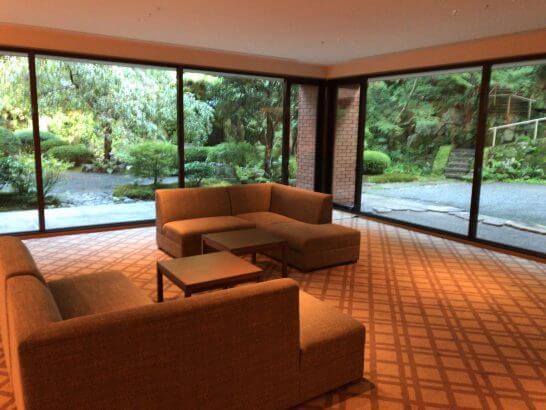 ハイアットリージェンシー京都の窓から見える日本庭園