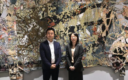 マネックス証券 営業本部の西尾さん、岩井さん (2)