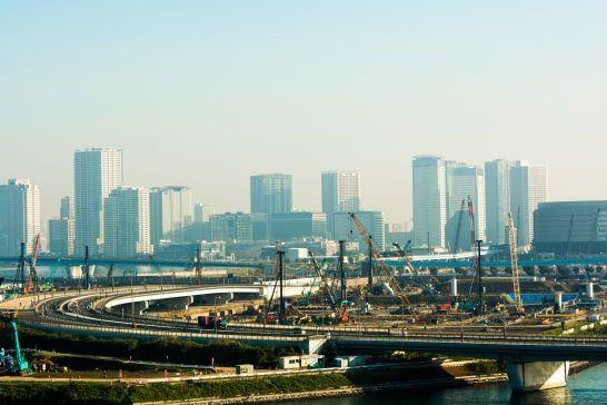 東京オリンピックの建設工事