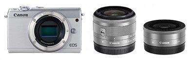 ミラーレスカメラ EOS M100 ダブルレンズキット