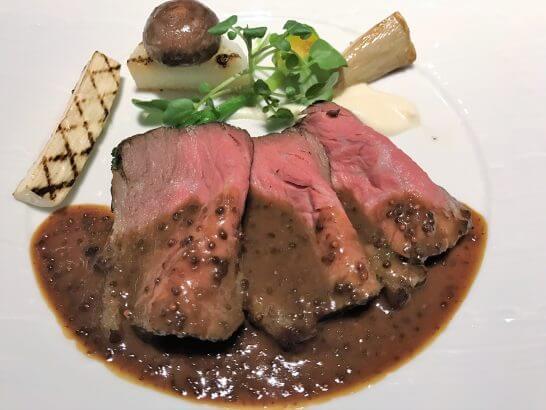 仙台牛のローストビーフ 紫マスタード風味ソース