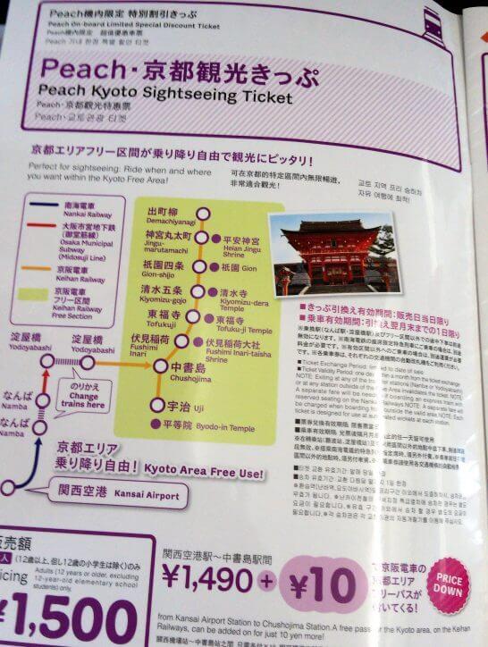 Peach 京都観光きっぷ