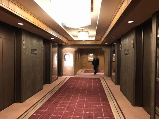 帝国ホテル東京 本館のエレベーター