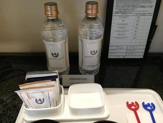 帝国ホテル大阪のボトルウォーター・お茶類