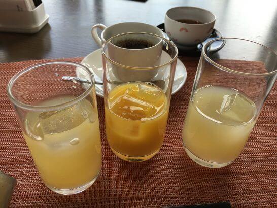 ヒルトン小田原のブラッセリーフローラのランチ (ジュース)