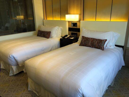 シェラトン都ホテル東京のエグゼクティブ・ツインベッド