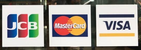 JCB、VISA、Mastercardのロゴ