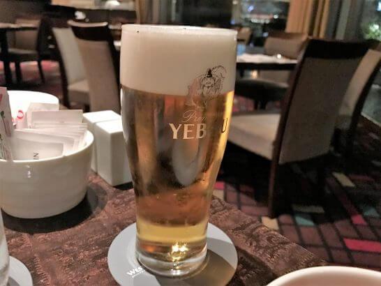 ウェスティンホテル東京のザ・テラスのビール
