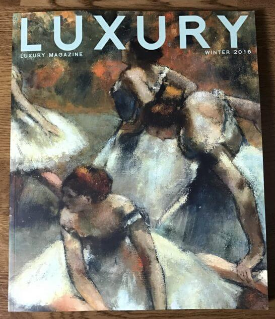 LUXURY MAGAZINEの表紙