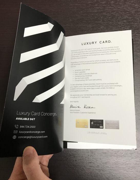 LUXURY CARD VIP HOTEL & TRAVELの挨拶文