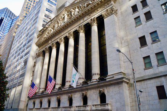 ウォール街のニューヨーク証券取引所