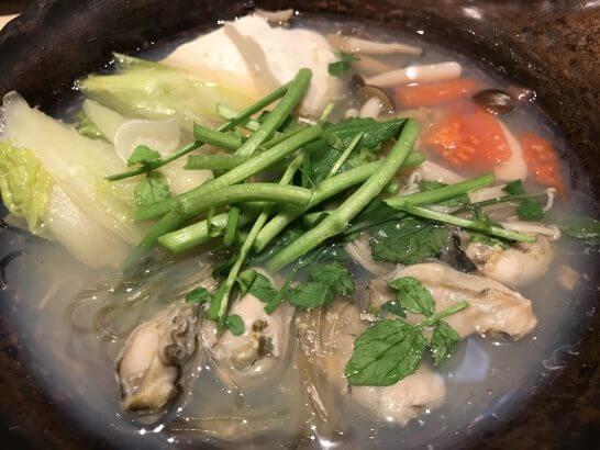 大戸屋の牡蠣鍋
