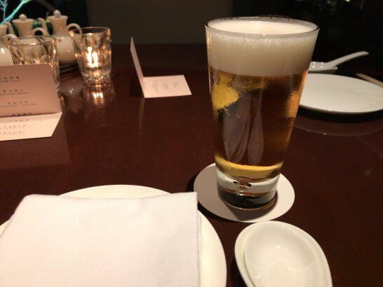 シェラトン都ホテル東京の四川のビール