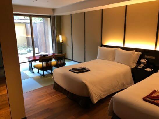 翠嵐ラグジュアリーコレクションホテル京都の客室