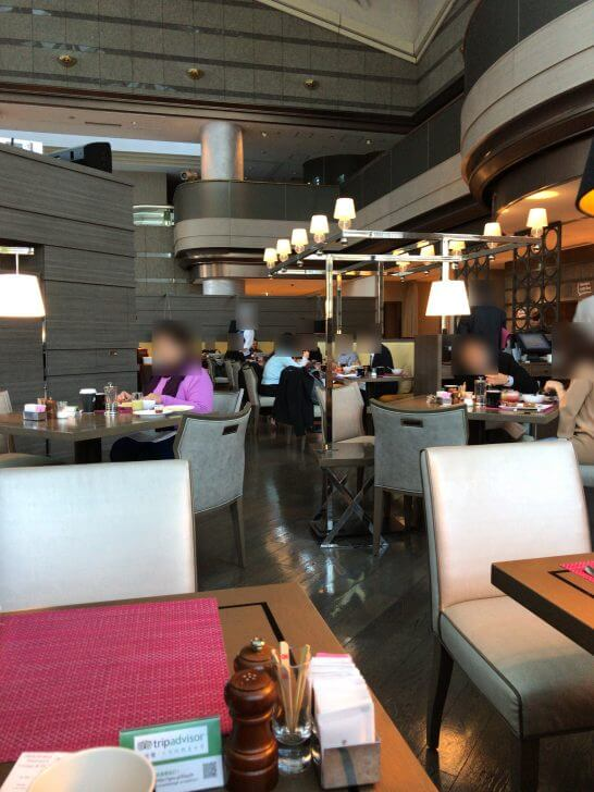 東京マリオットホテルの朝食会場