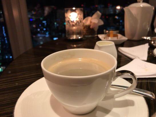 シャングリラ・ホテル東京のホライゾンクラブのノンカフェインコーヒー