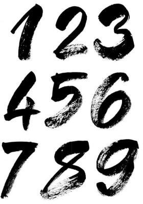 1・2・3・4・5・6・7・8・9の数字