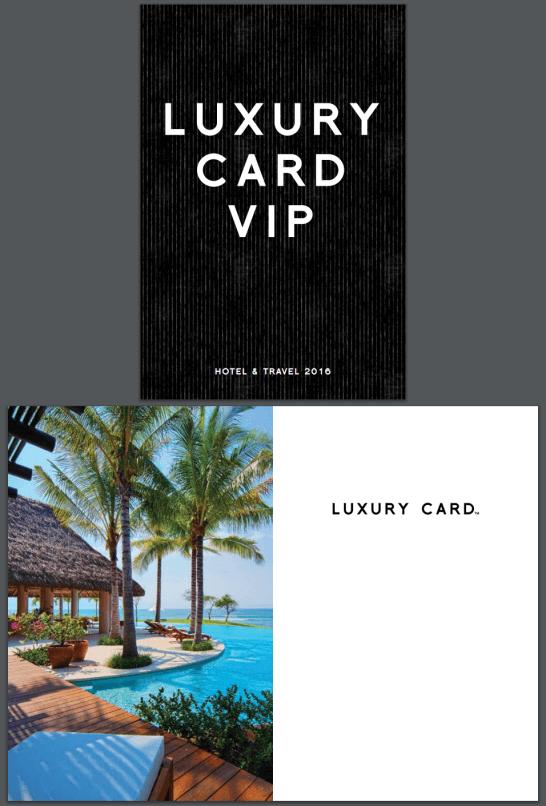 LUXURY CARD VIP(HOTEL & TRAVEL 2016)