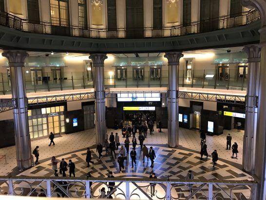 東京ステーションホテルから見下ろした東京駅構内