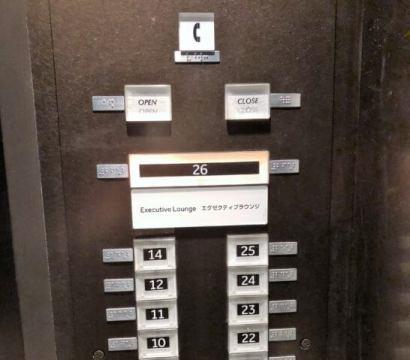 東京マリオットホテルのエレベーターのパネル