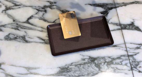 ラグジュアリーカード(ゴールドカード)をお会計で出したところ