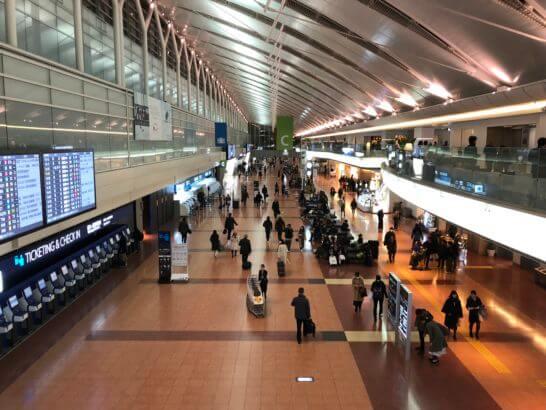 羽田空港第2ターミナル 出発ロビー