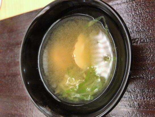 銀座小十の味噌汁