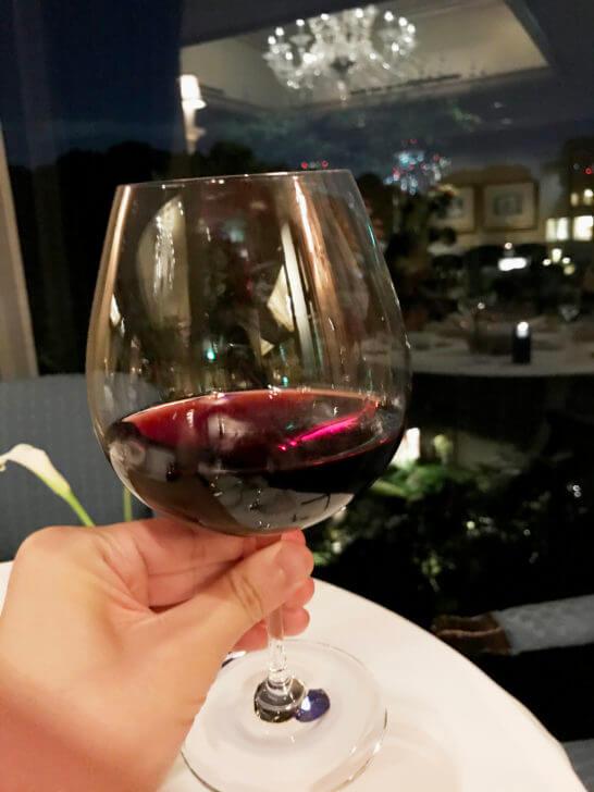 椿山荘のイル・テアトロの赤ワイン2杯目