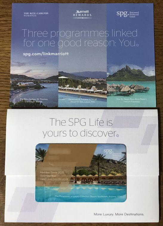 SPGの会員カードの台紙