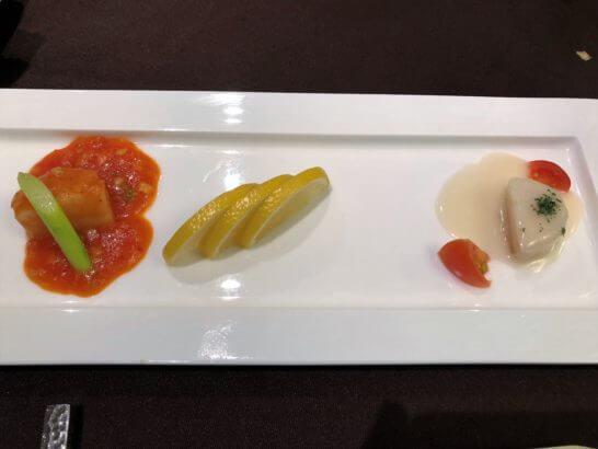 品川プリンスホテルの中華レストランのコース料理 (海鮮類)