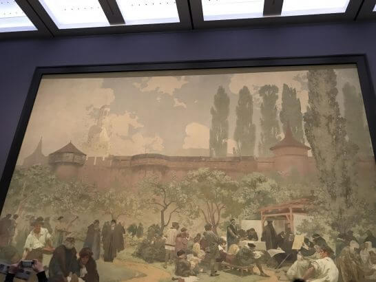 国立新美術館の展示(ミュシャ展)