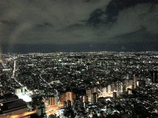 パークハイアット東京のパークデラックスツインからの夜景