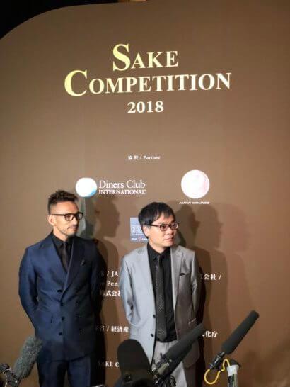 中田英寿さんといとうせいこうさん(SAKE COMPETITON 2018)