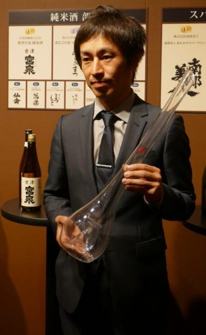 純米酒部門1位の蔵元の代表者